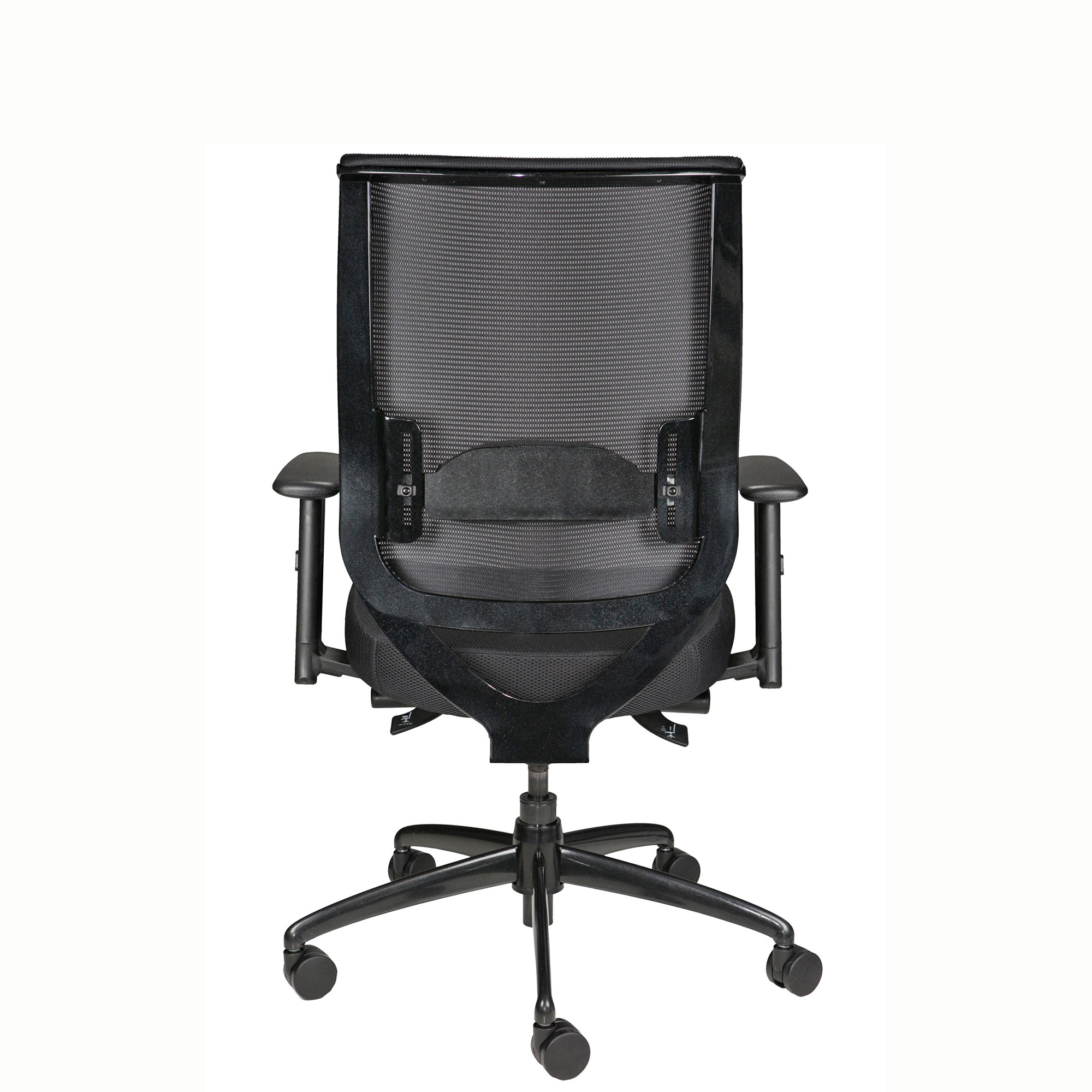 Nifry Mesh-Back Task Chair - Back View