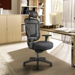 Rika Mesh Back Chair With Extra-Thick Seat Cushion