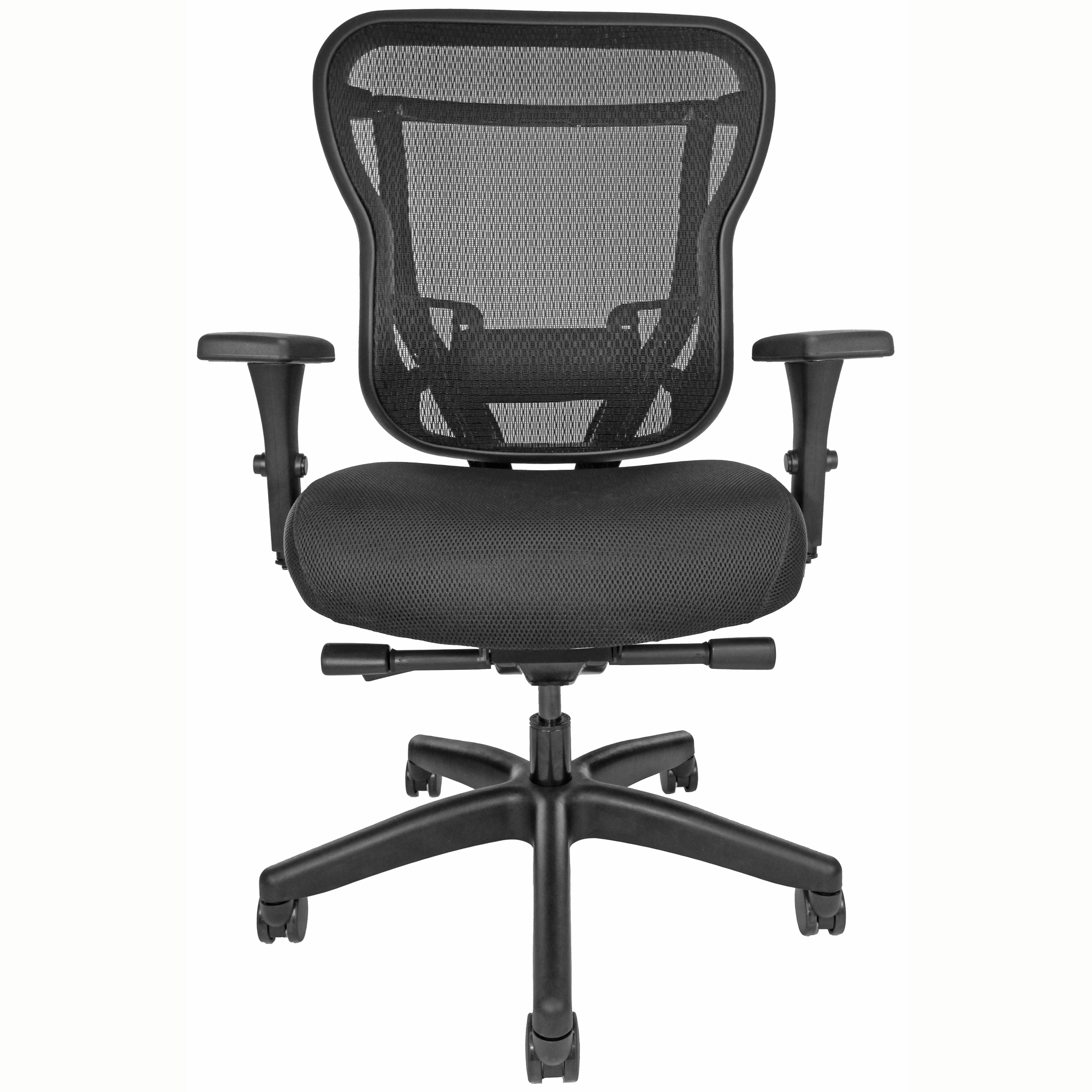 RKF Mesh-back office chair with upholstered seat