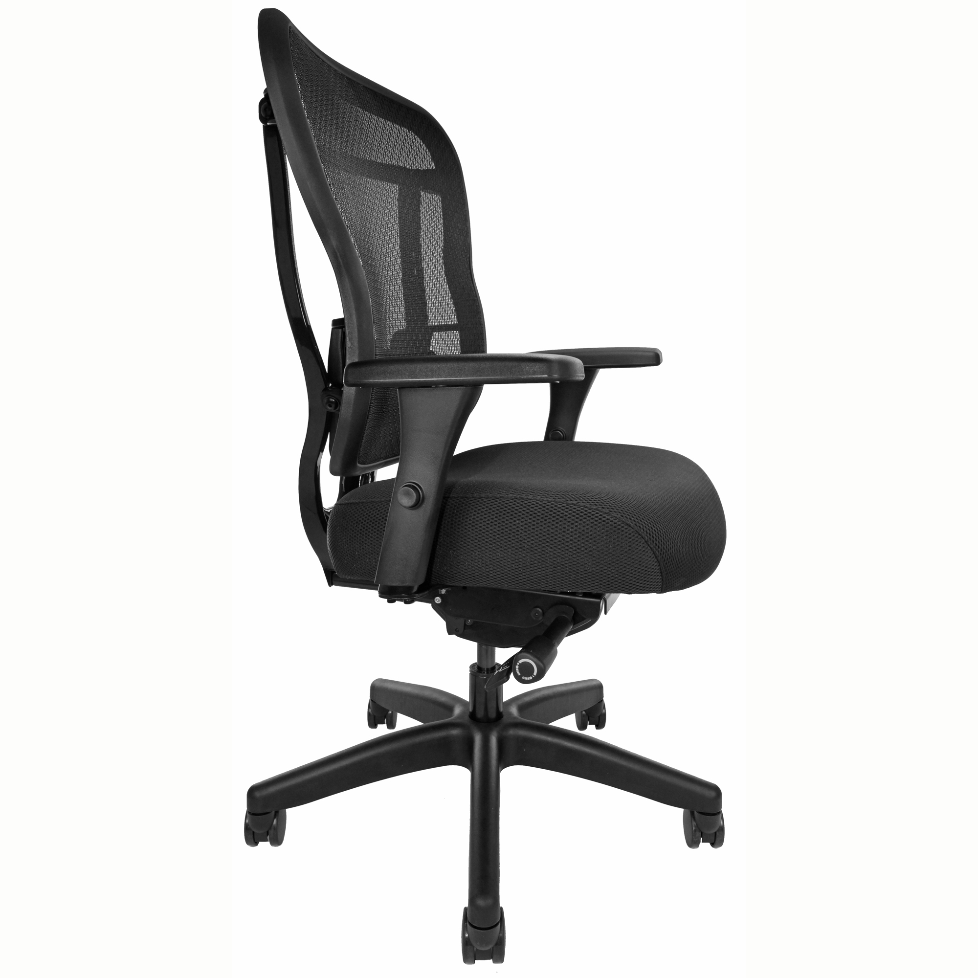 Mesh-back office chair, front angle