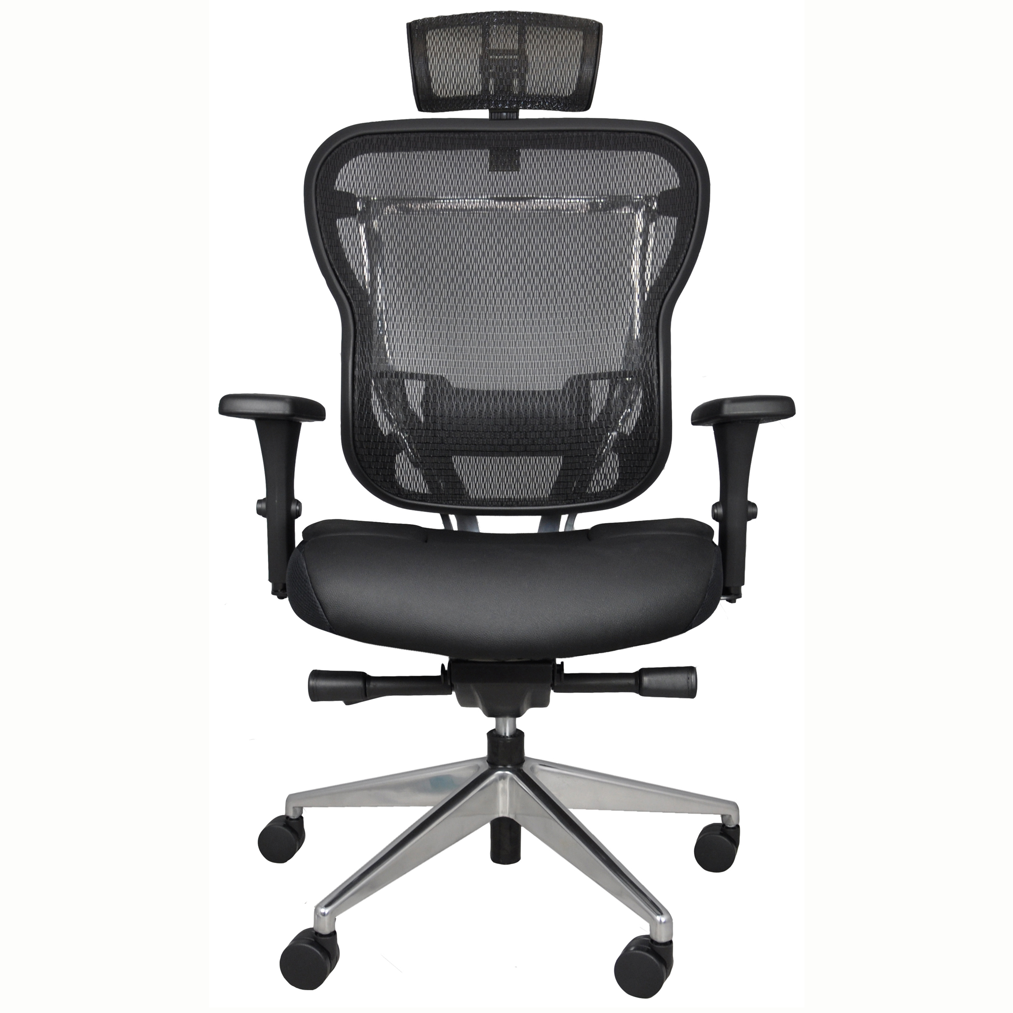 Rika Home Office Chair with Mesh Back and Headrest
