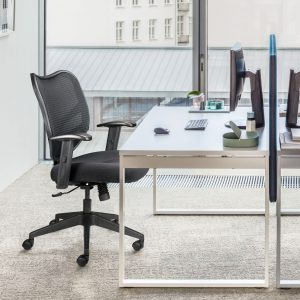 Dandy Mesh-Back Office Chair With Arms