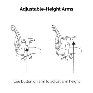 DN Office Chair Arms Are Height-Adjustable