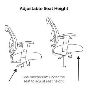 DN Office Chair Has Adjustable Height