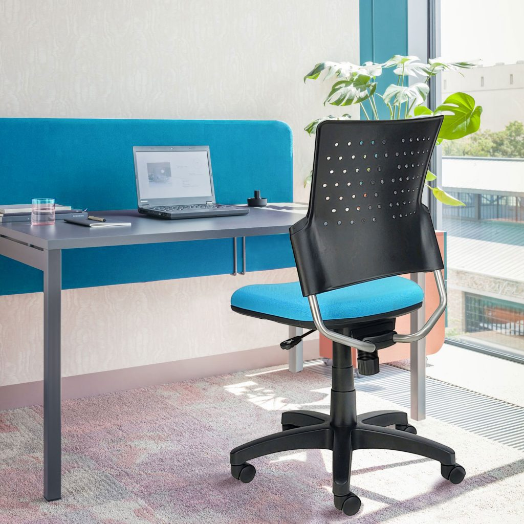 Small armless home office chair