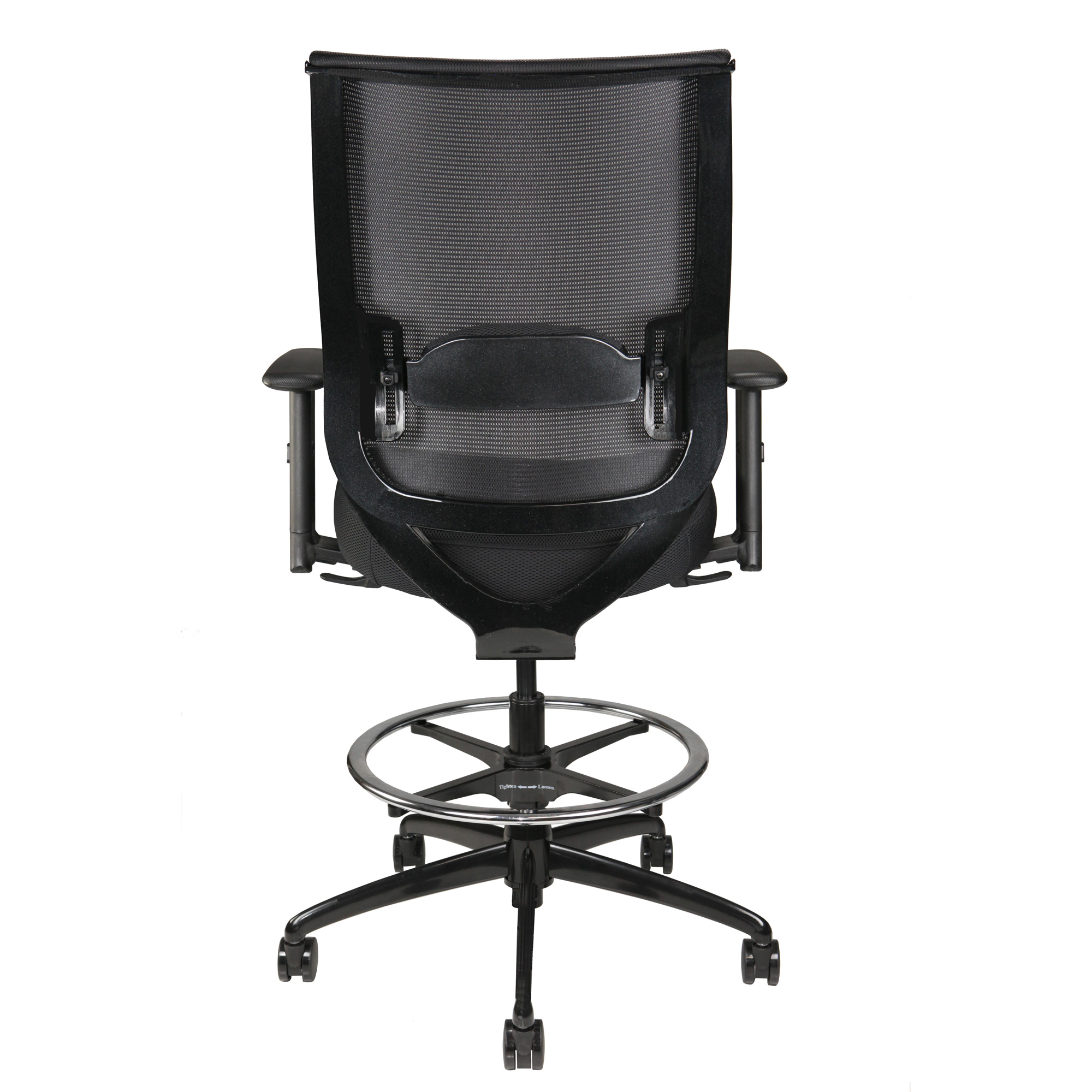 """""""Nifty"""" Home Office Stool, back view"""