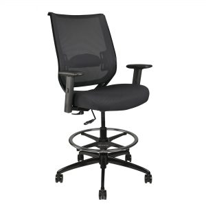 Home Office Stool WIth Arms, Footrest, and Wheels
