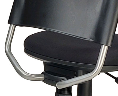 Back-rest support made of powder-coated steel