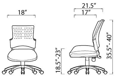 Snap Chair Dimensions