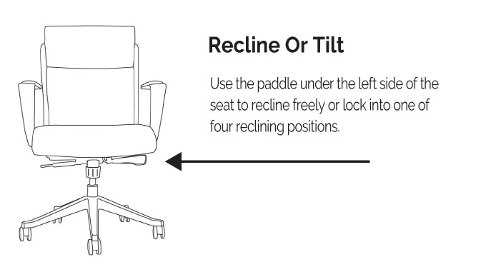 LOD65 & LOD68 Recline or Tilt Diagram