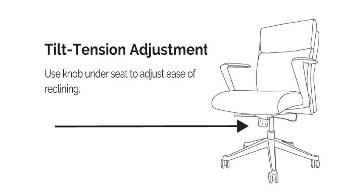LOD65 & LOD68 Adjustable Reclining Tension Diagram