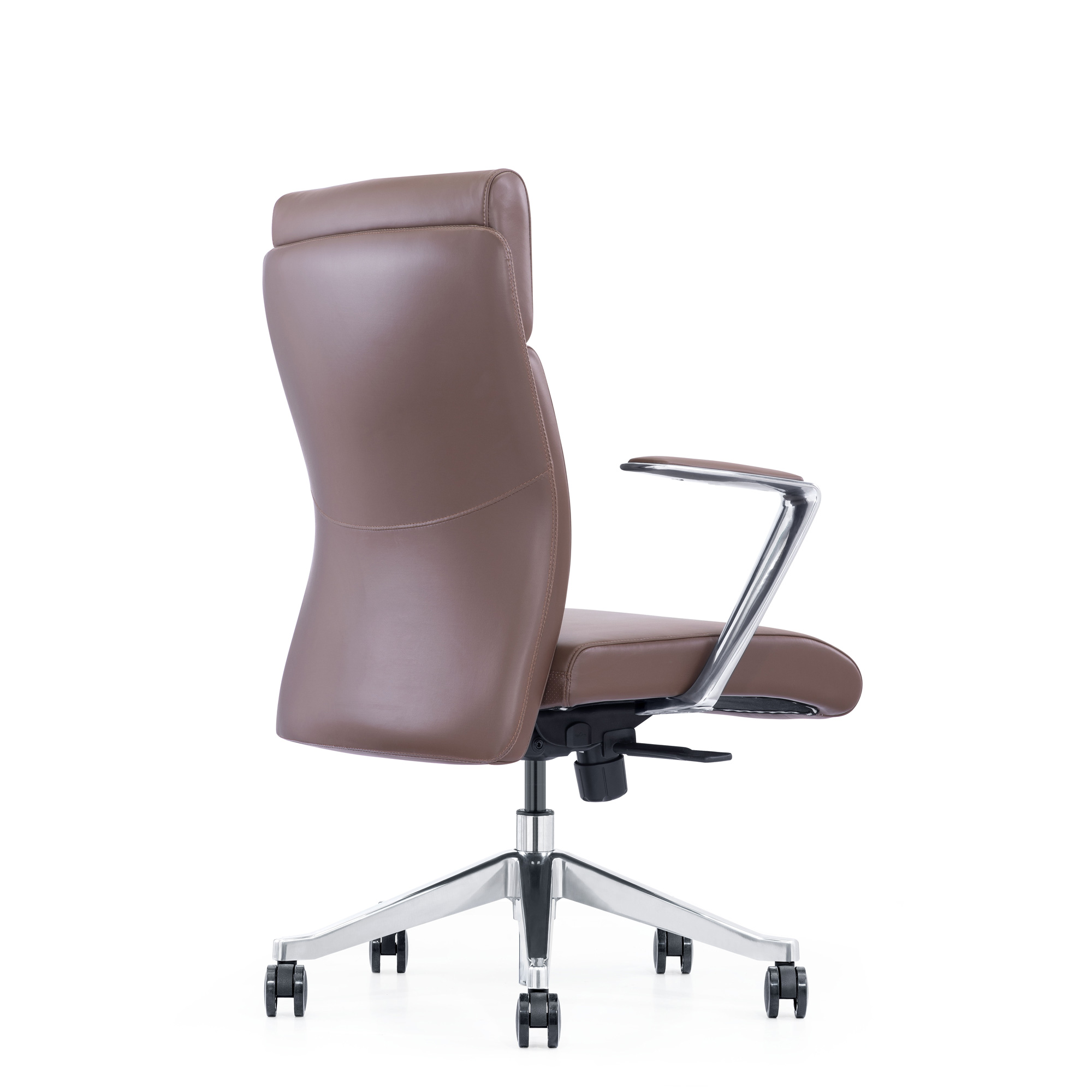 Brown Leather Home Office Chair
