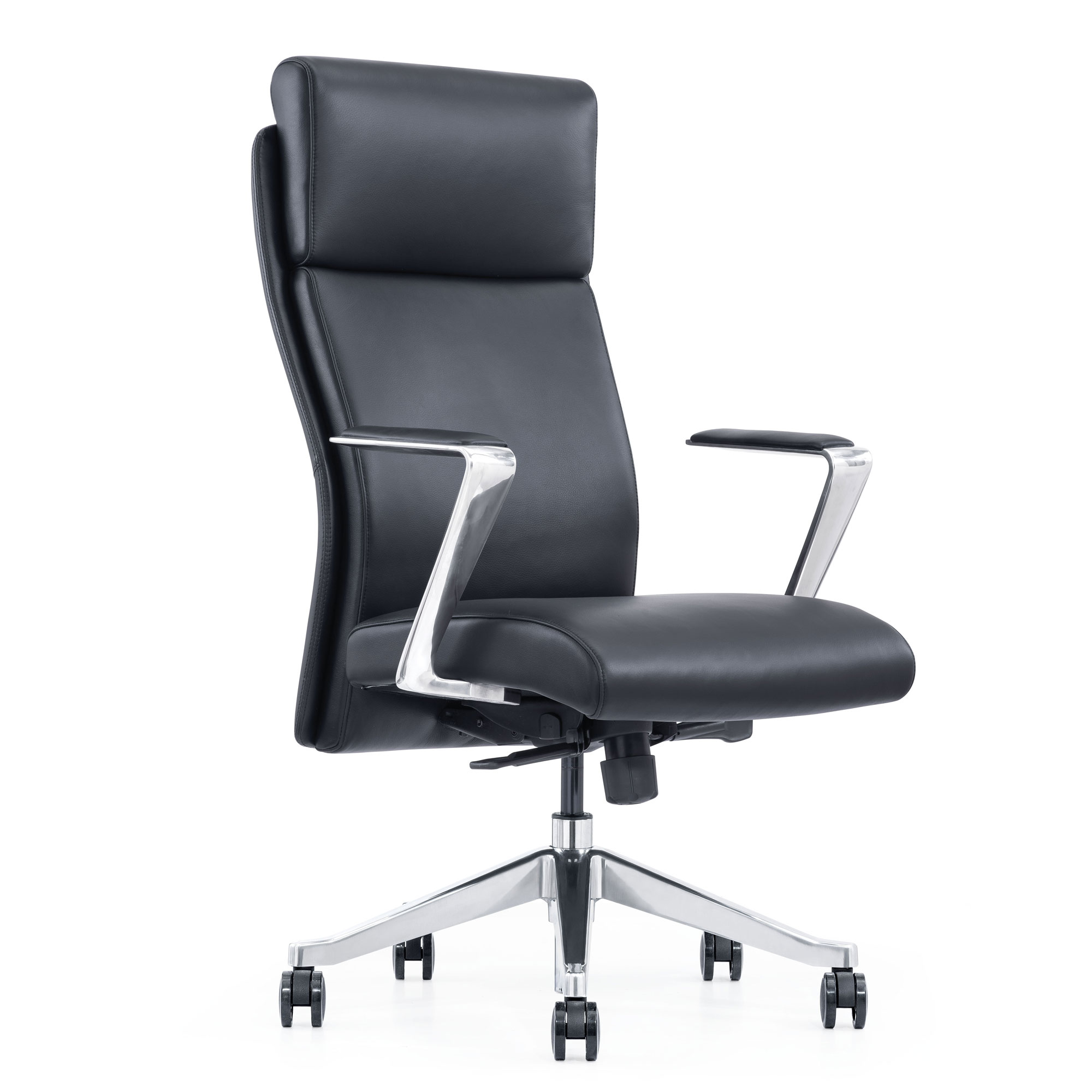LOD68 Black leather home office chair