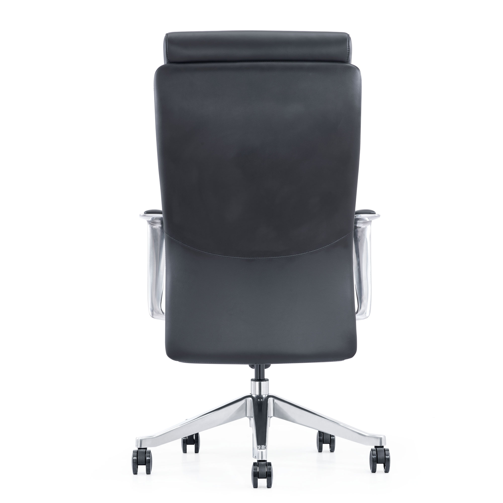 LOD68, Black leather high-back home office chair