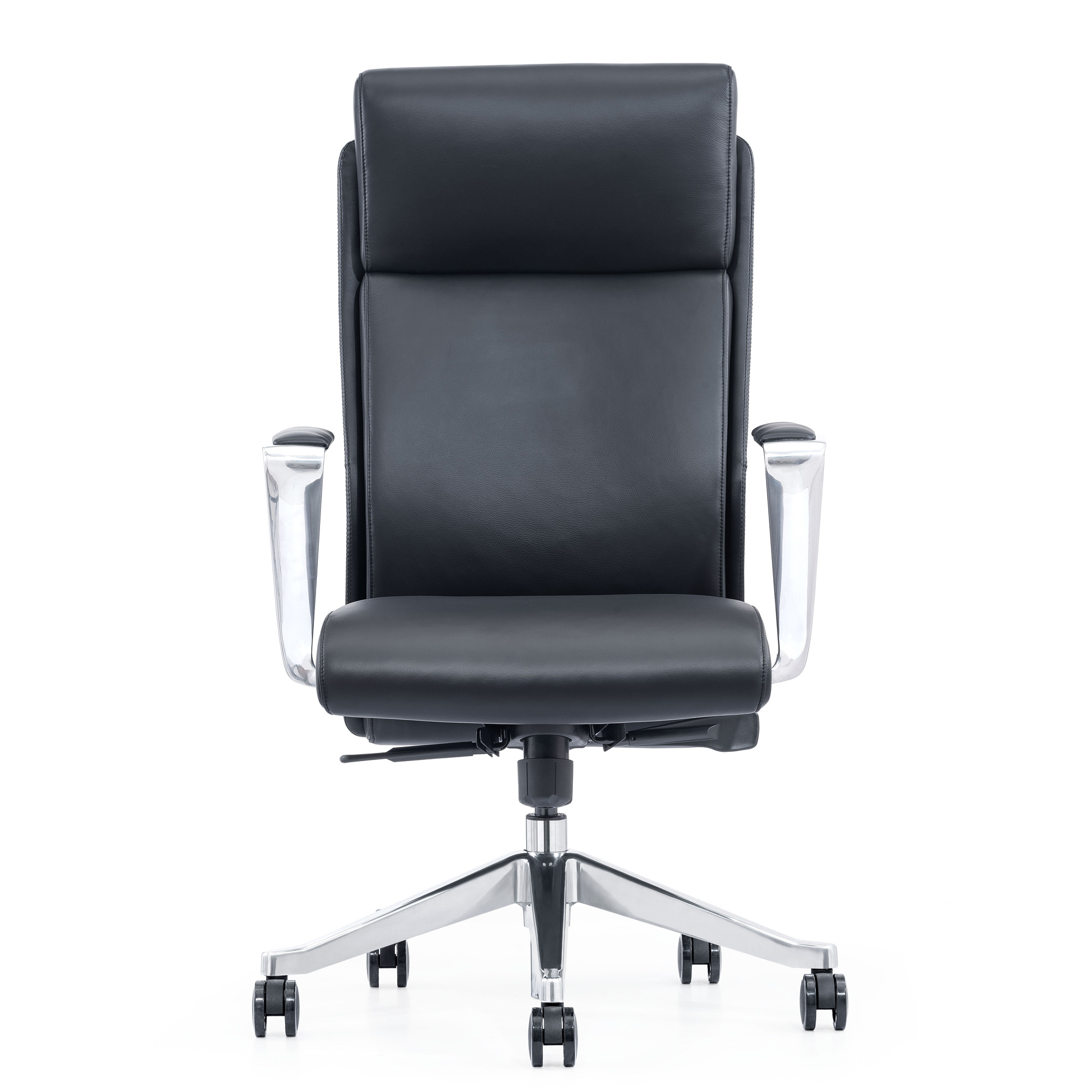 LOD68, Black leather high-back chair