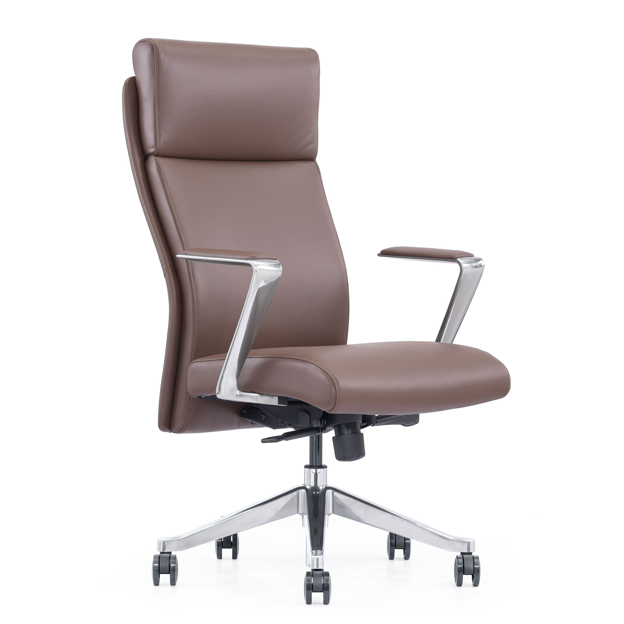 LOD68, High-back leather chair