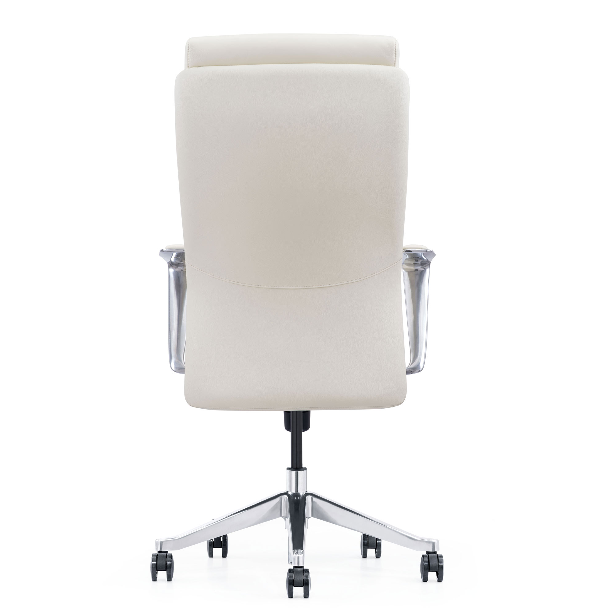 LOD68, Off-white leather chair, back view