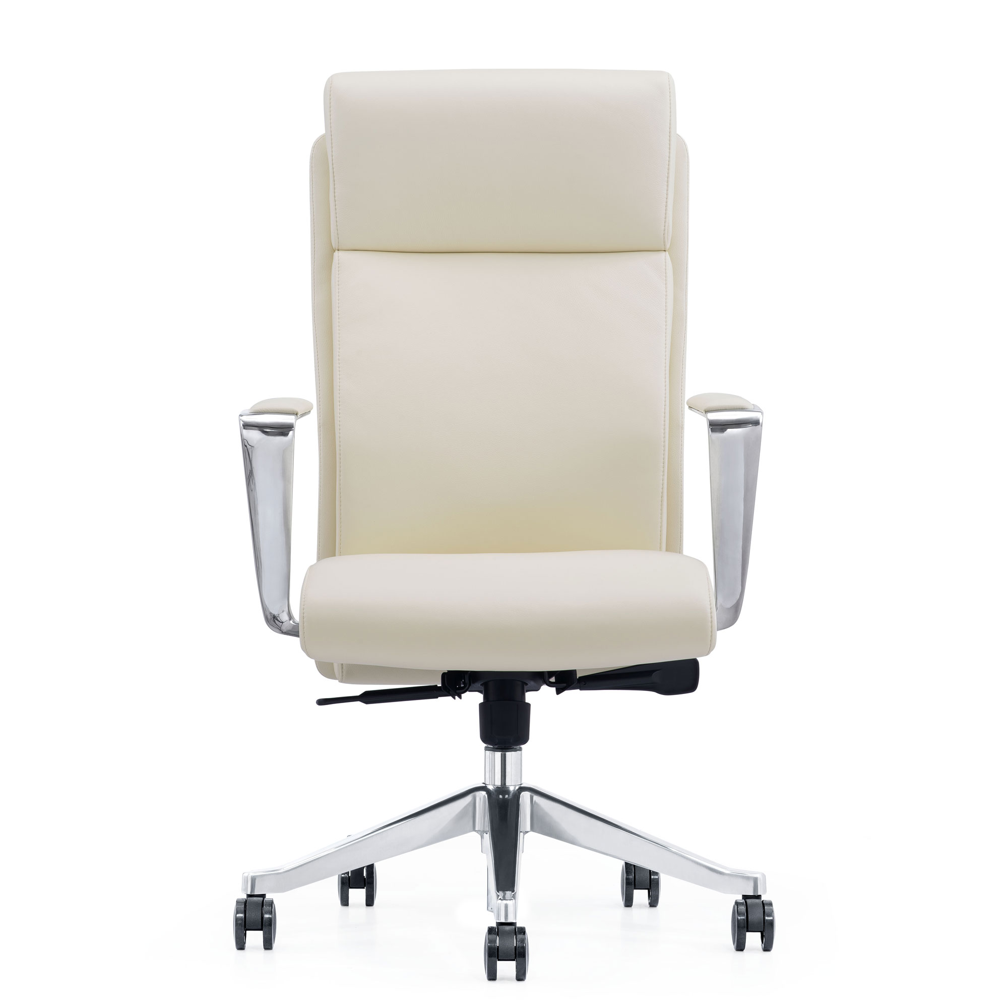 LOD68, Off-White Leather Home Office Chair