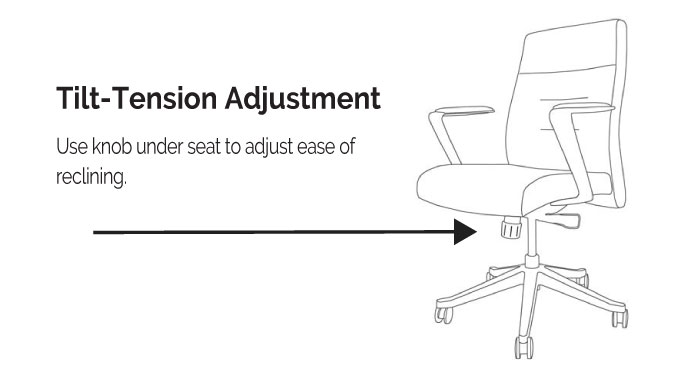 LOD75 and LOD78 Tilt Tension Adjustment Diagram