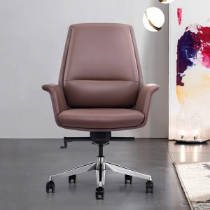LOD85 Brown Leather Home Office Chair