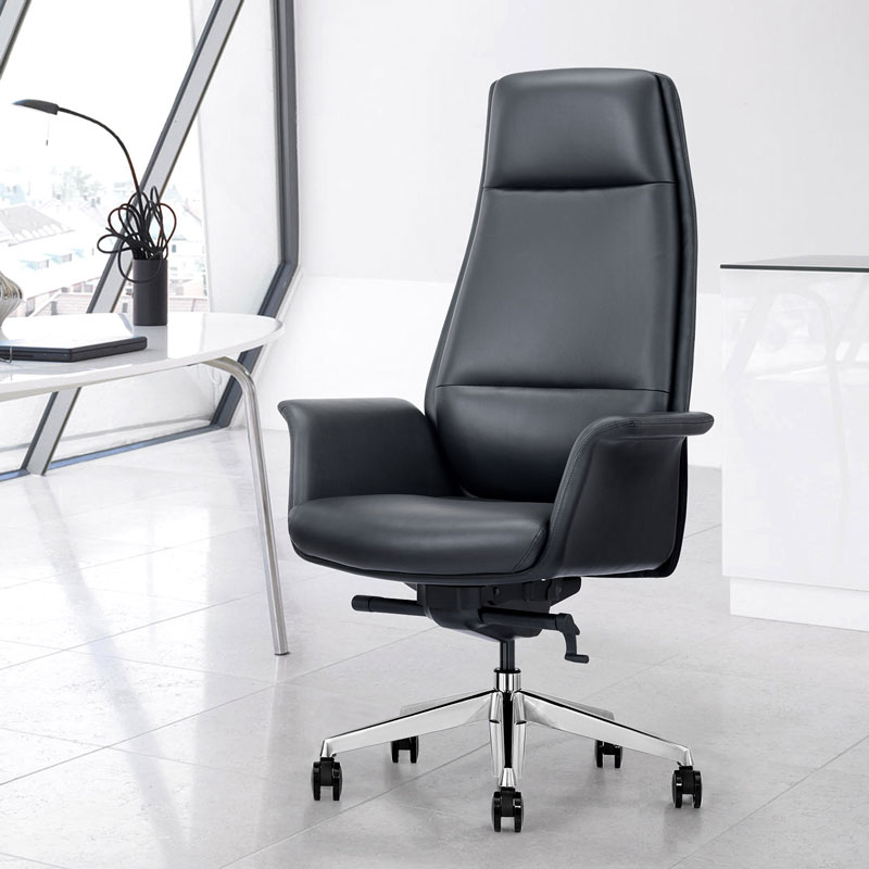 Black Leather Home Office Executive Chair