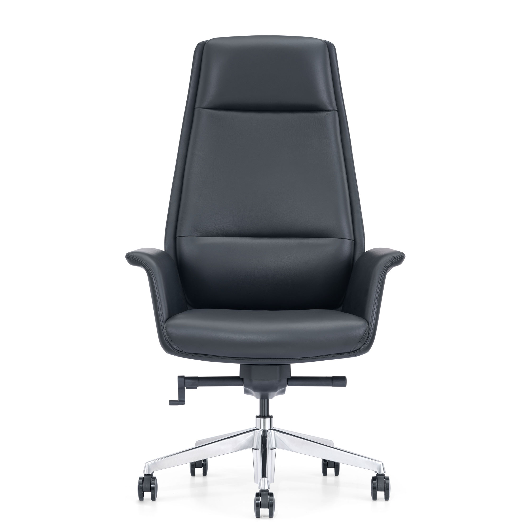 Classy Black Leather Home Office Executive Chair