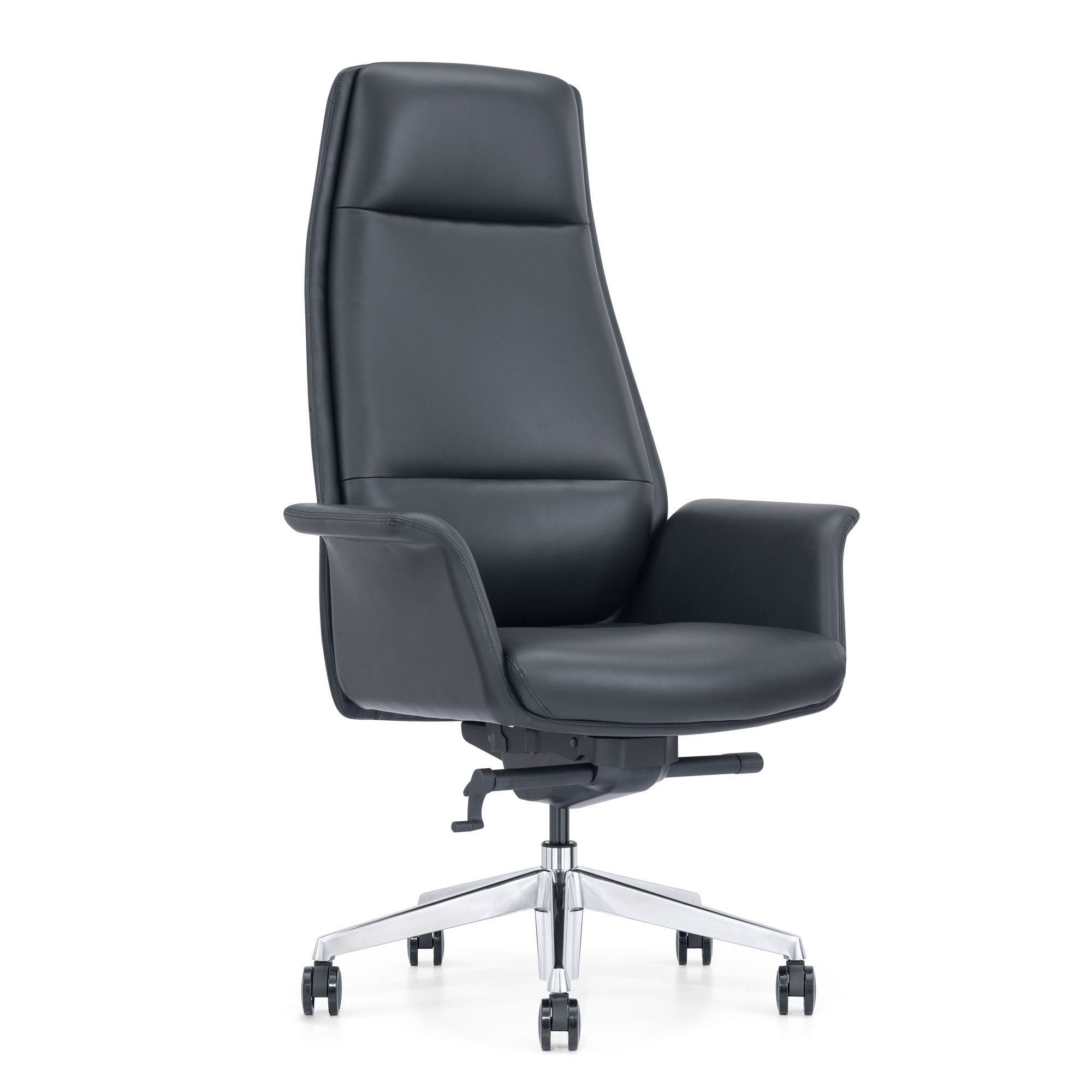 Black Leather Home Office Chair