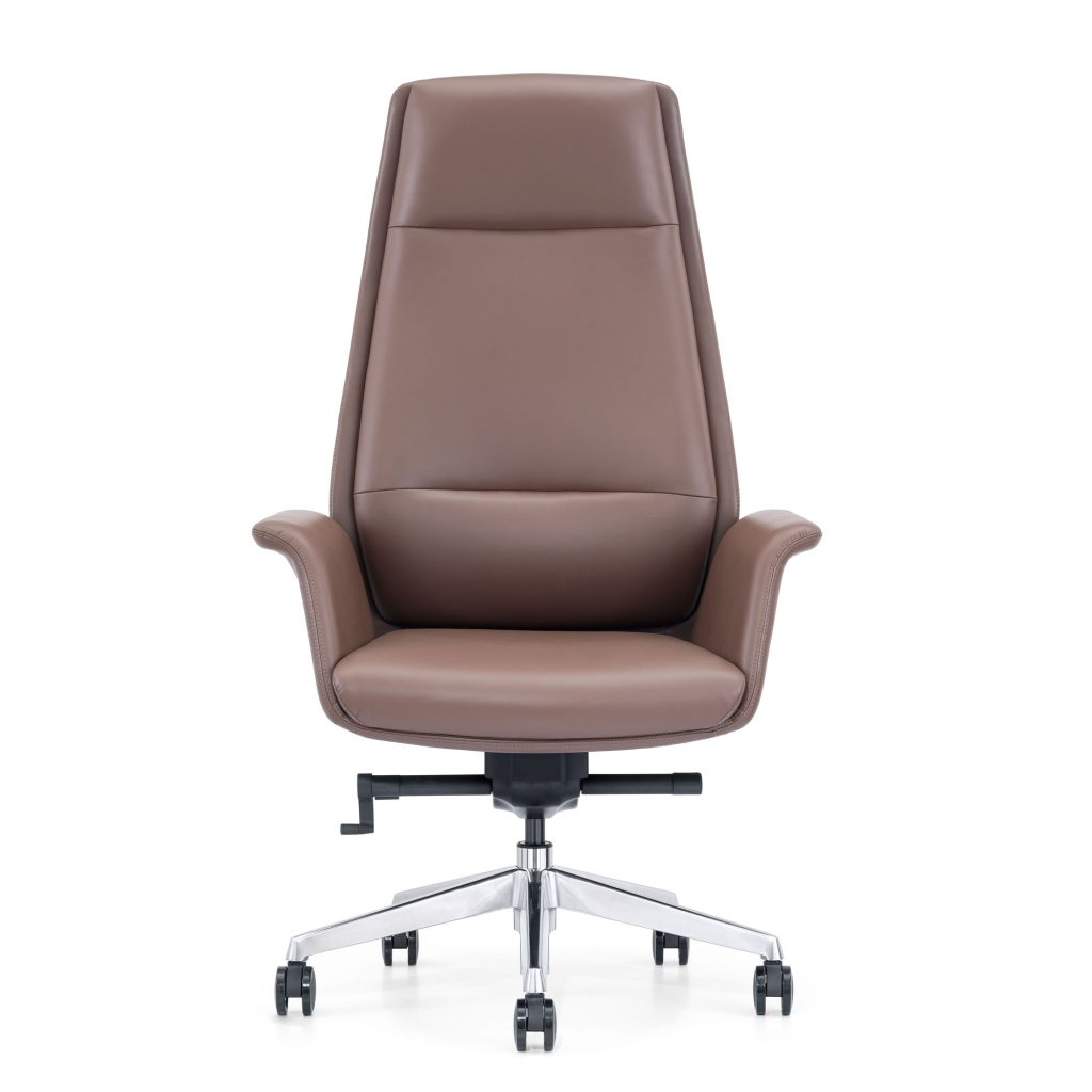 Brown Leather Executive Chair for Home Office