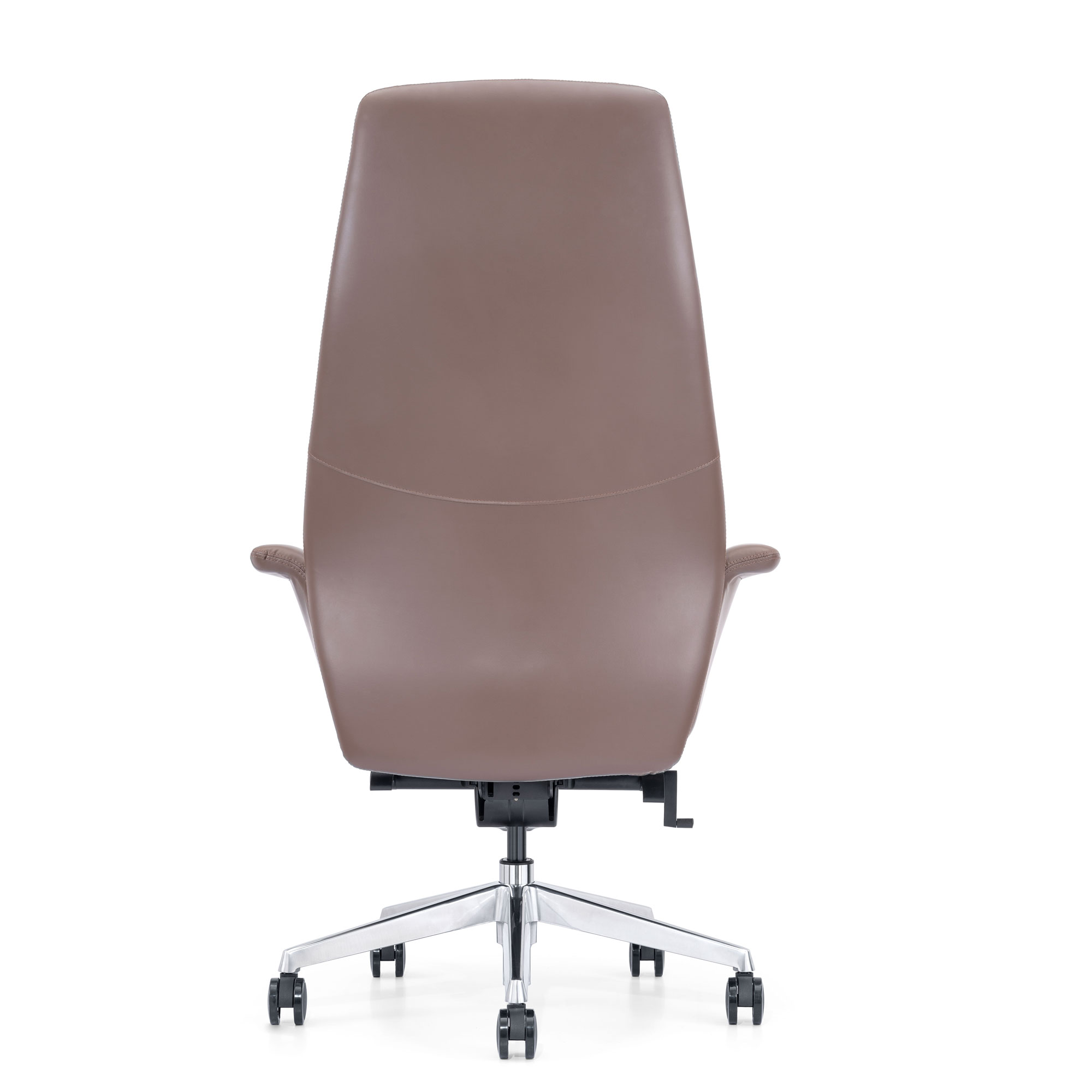 Brown Leather Home Office Chair, Back View
