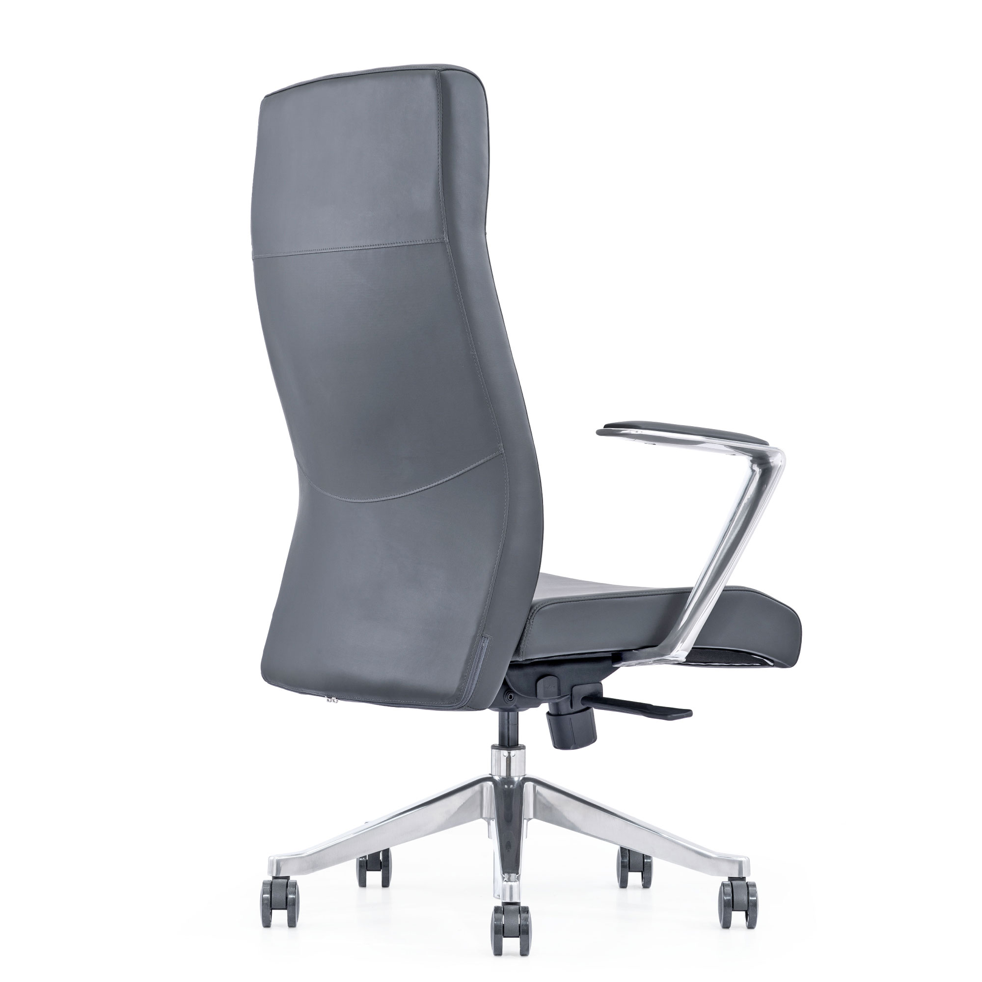 Leather Home Office Chair with arms, wheels, and adjustable height