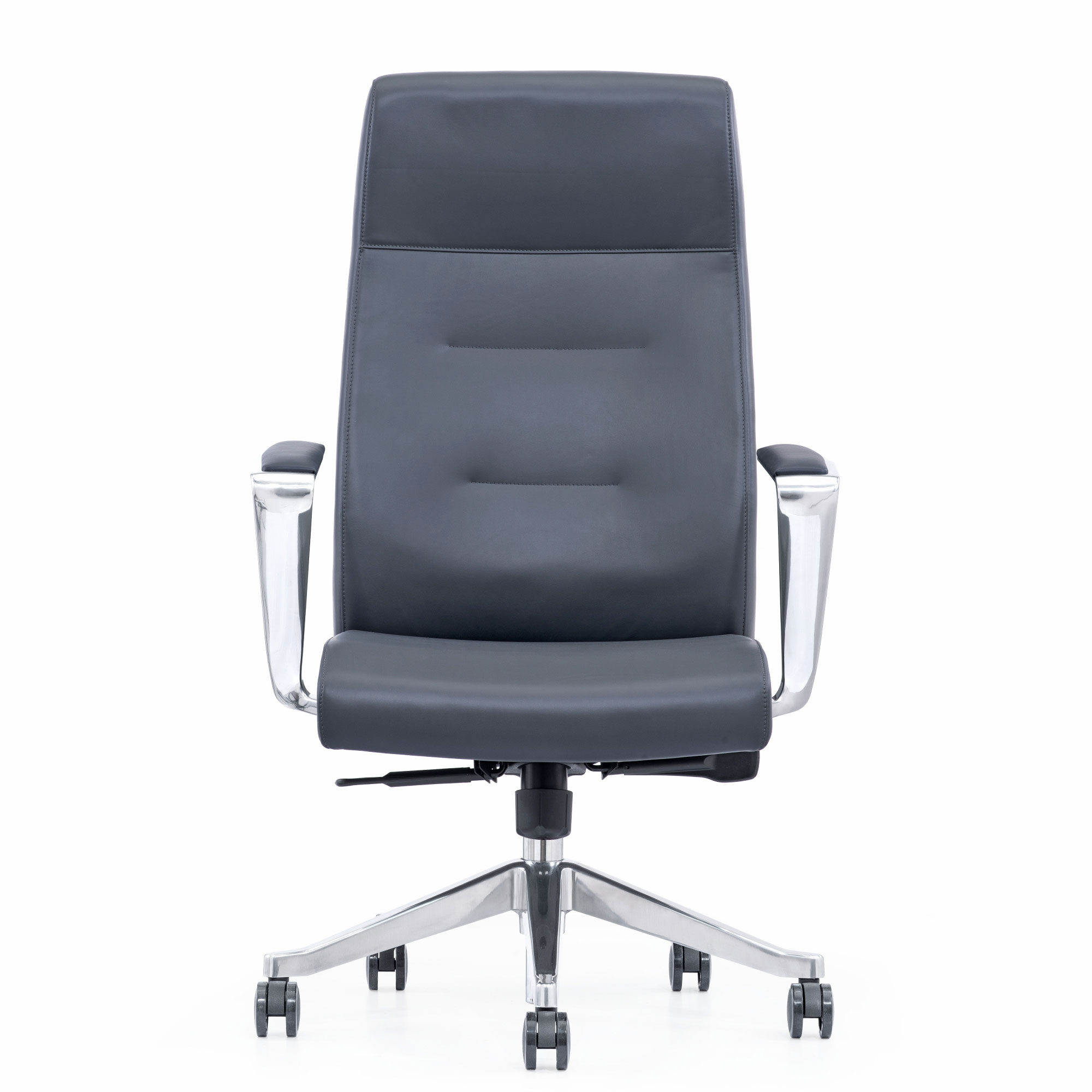 Gray Leather Executive Chair For Home Office
