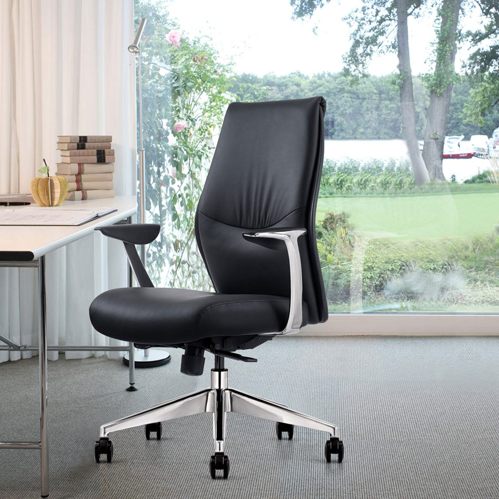 Most Comfortable Black Leather Home Office Chair