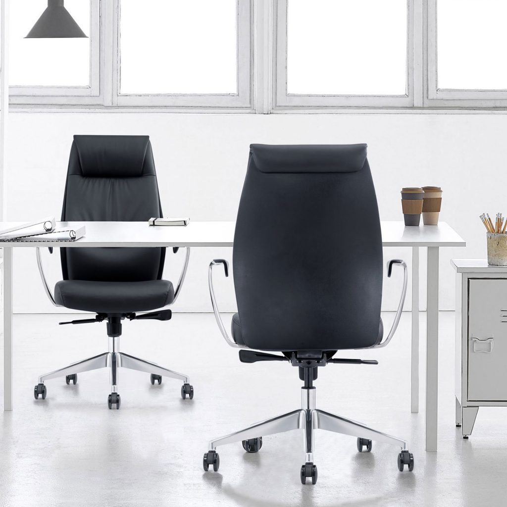 Mid-Back Leather Home Office Chairs